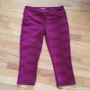 Forever 21 yoga pants burgundy pattern sz S style